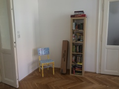 note the chair that my mom painted.